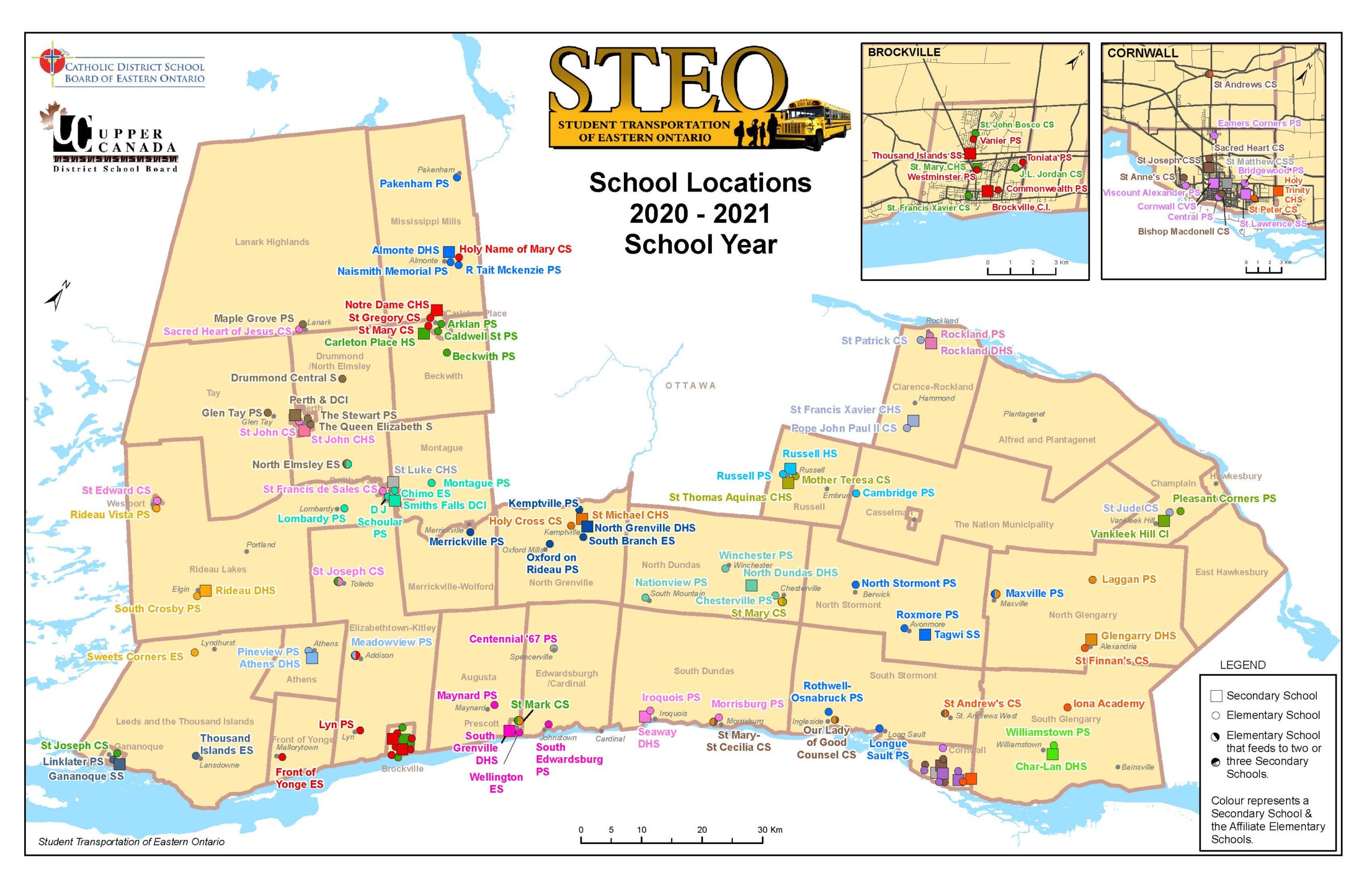 STEO and Board School locations